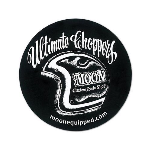 "Moon Cutsom Cycle Shop ""Ultimate Choppers"" Sticker [ DM155BK ]"