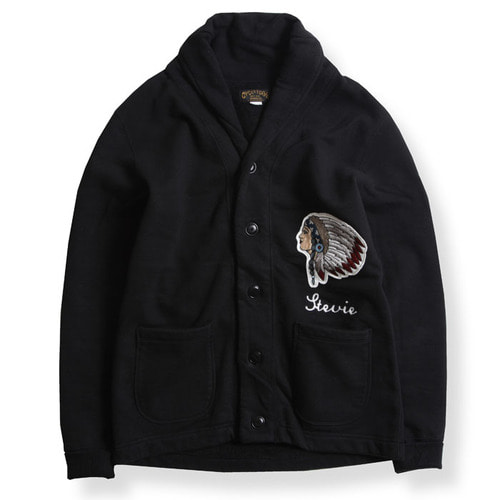 HEAVY WEIGHT CARDIGAN (EHAWEE) BLK