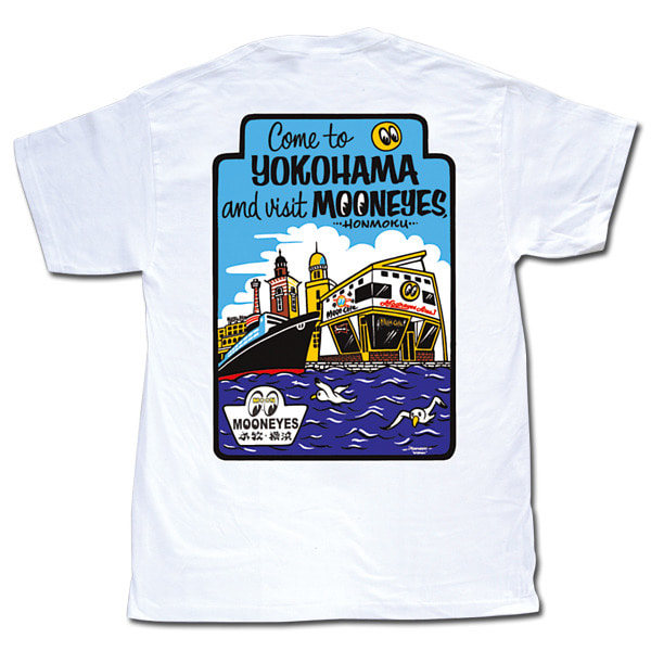 MOON Come to YOKOHAMA T-Shirts [ TM571WH ]