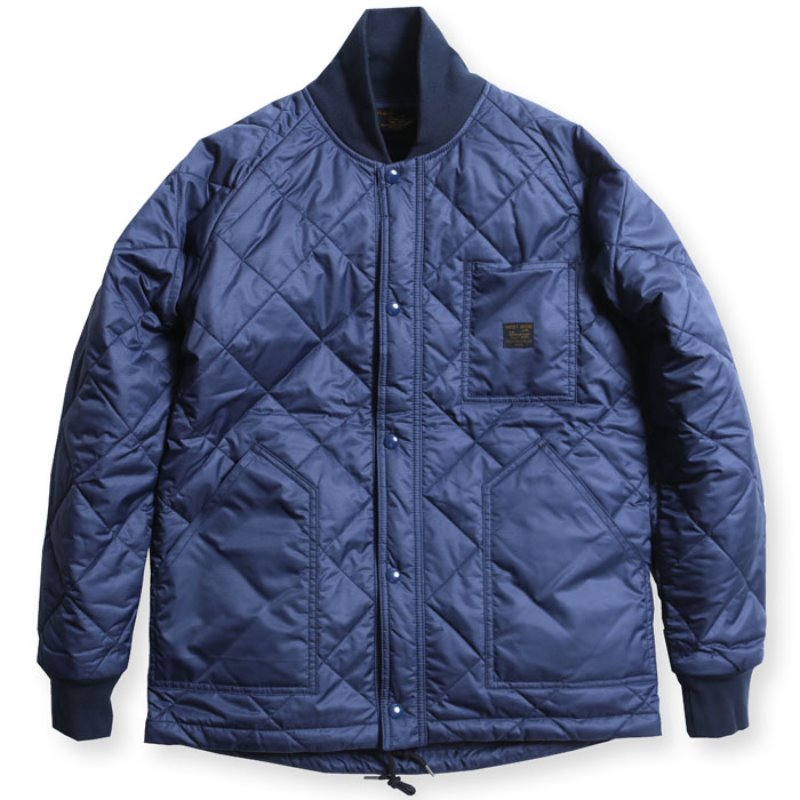 CYCLE QUILT JACKET (NAVY)