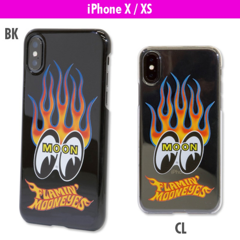 Flamin 'MOON iPhone X / XS Hard Case [ MG803 ]