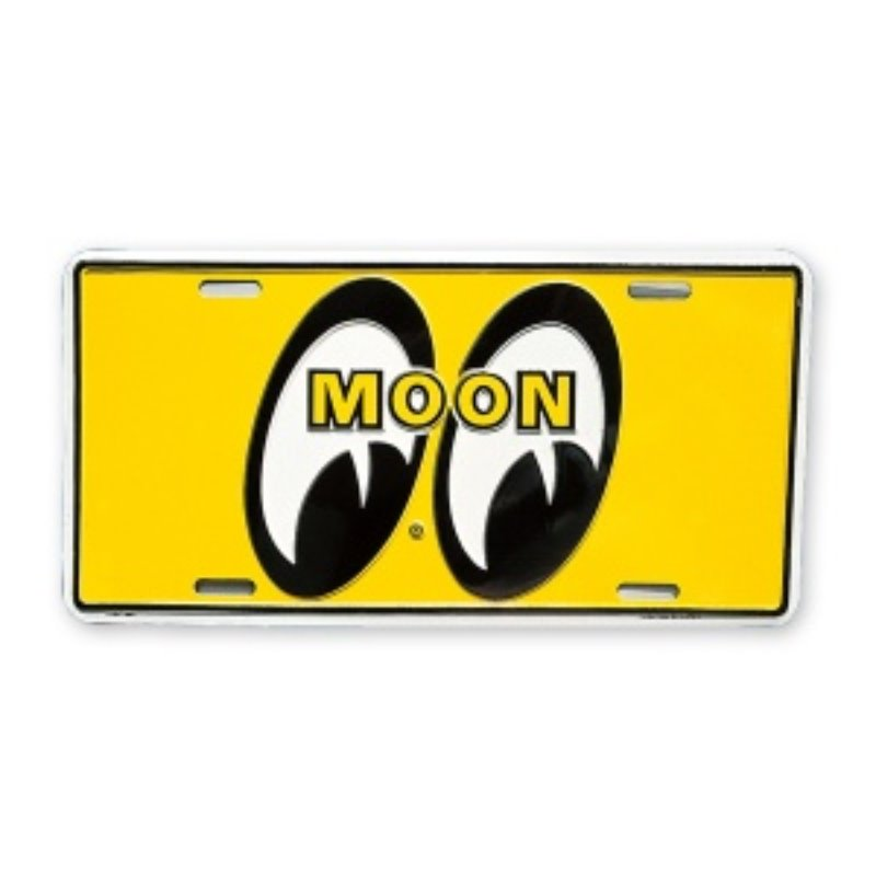 MOONEYES California Steel License Plates Yellow Eyes [MG081EQ]