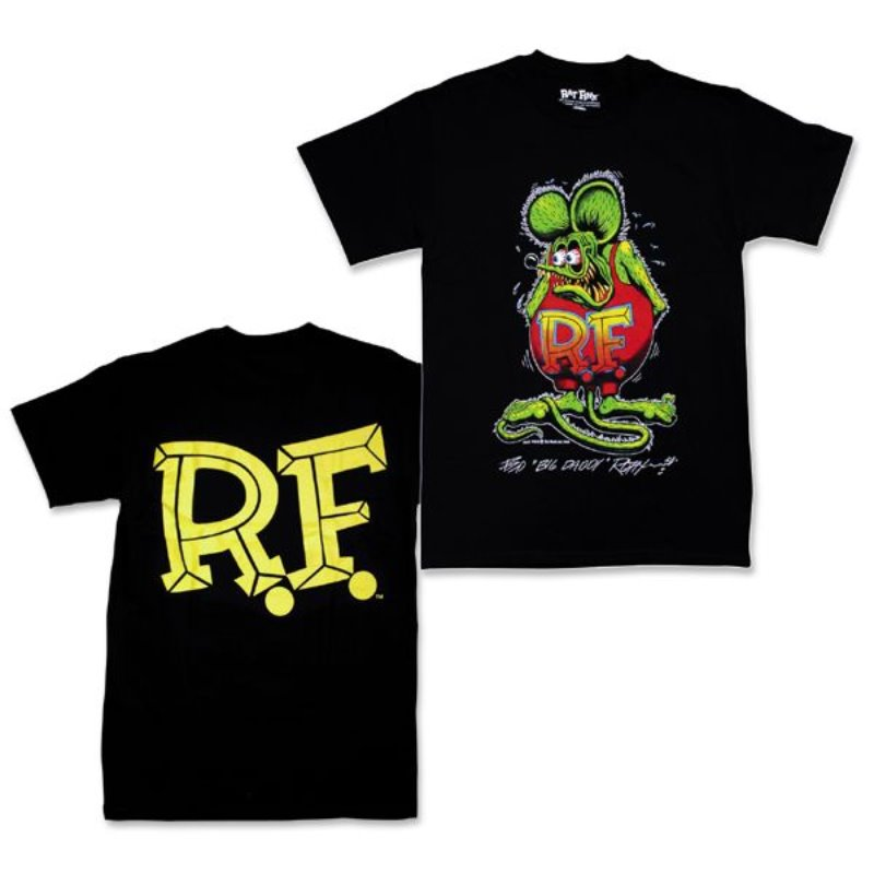 "Rat Fink Monster T-Shirt ""Standing Rat Fink"" Black [RIT209BK]"