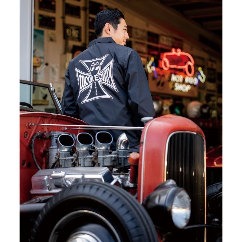 MOON Equipped Iron Cross Coach Jacket [MQW043BK]