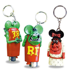 Rat Fink Lighter Cap Key Ring [ RAF253 ]