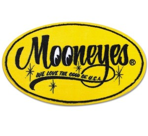 MOONEYES Floor Mats Yellow Oval [ MG458MO ]