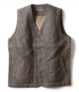 WORKERS VEST (BROWN HICKORY)