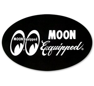 MOON Equipped Oval Sticker Black [ MQD027BK ]