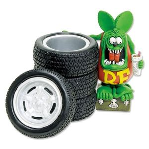Rat Fink Tire Pen Stand [ RAF437 ]
