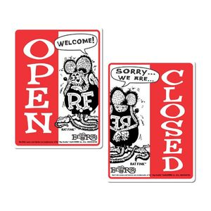 Rat Fink Sign Board Open & Closed [ RAF230 ]