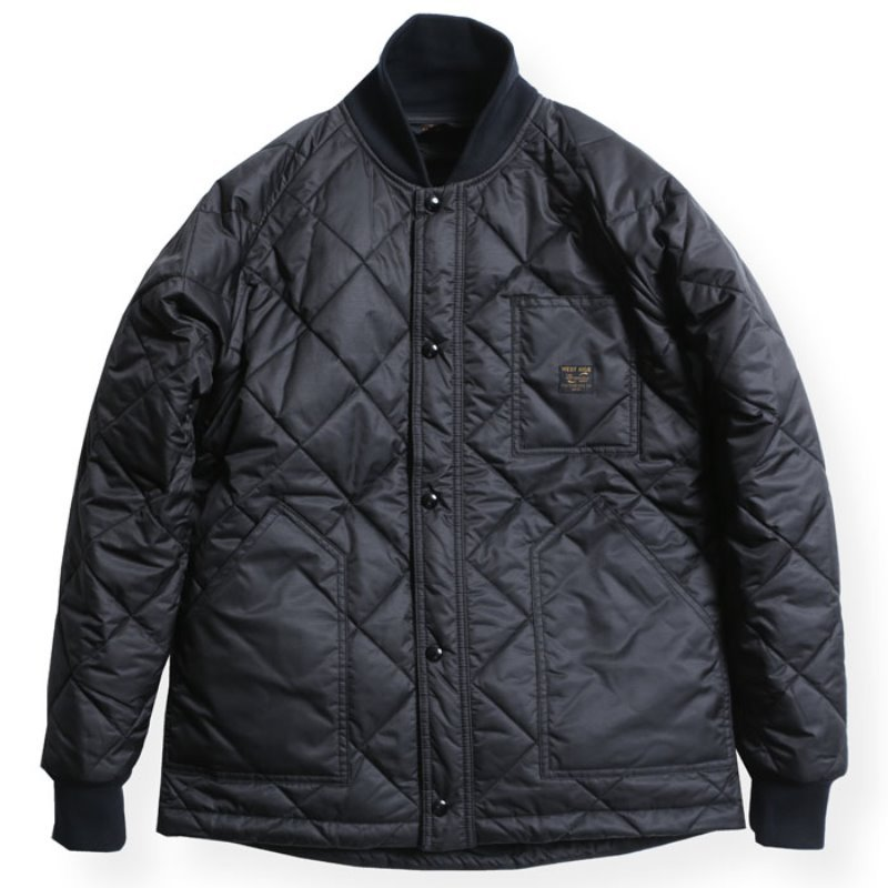 CYCLE QUILT JACKET (BLACK)